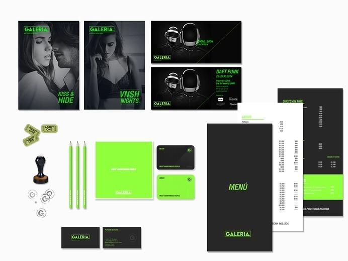 Building brand identity for GALERIA night club #agency #branding