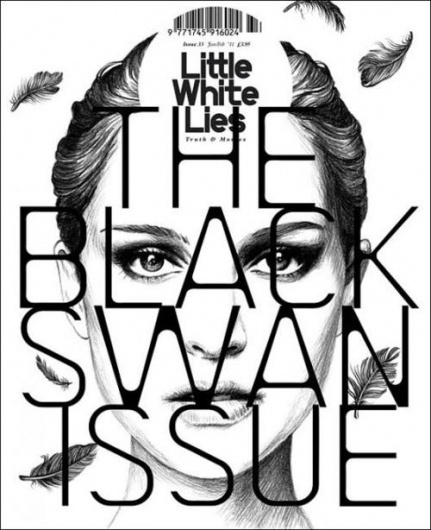 MatterPrinted › Curated covers of Printed Matter, Little White Lies N°33 Black Swan Issue #cover #magazine