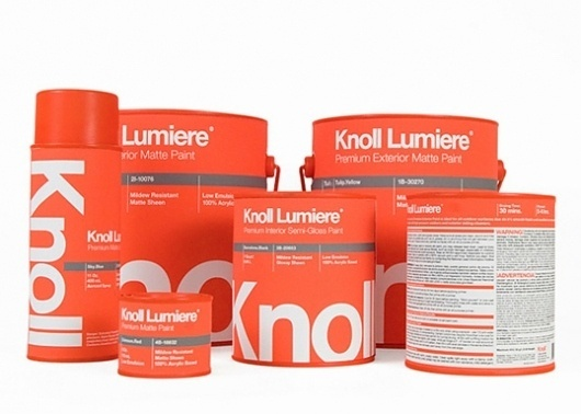 Lovely Package® . Curating the very best packaging design. #packaging #paint #knoll #typography