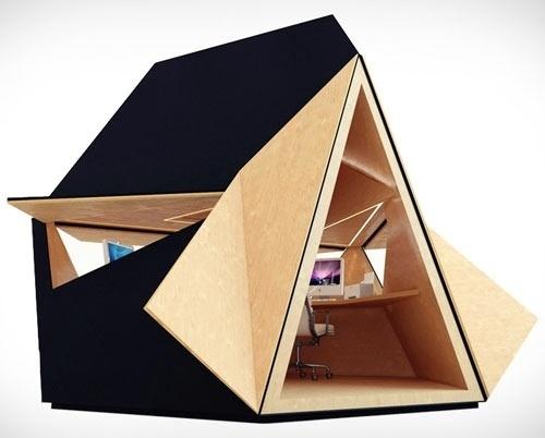 Tetra Shed | Design Milk #interior #office #design #architecture