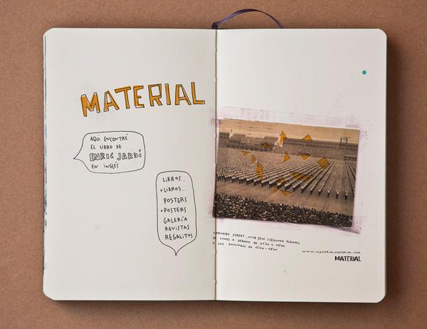 pazmartinezcapuz.com #handwriting #material #moleskine #pazmartinezcapuz #collage