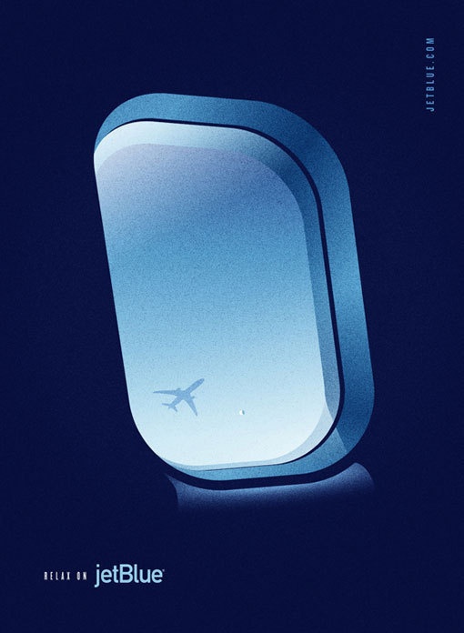 LabPartners_JetBlue_3 #illustration #poster #retro #airplane #airline #aviation #flight #jet bue