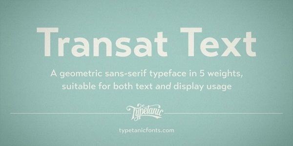 Transat Text Webfont #ff