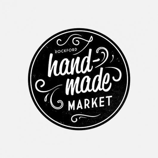 Circular shape, hand written style font, details #logo