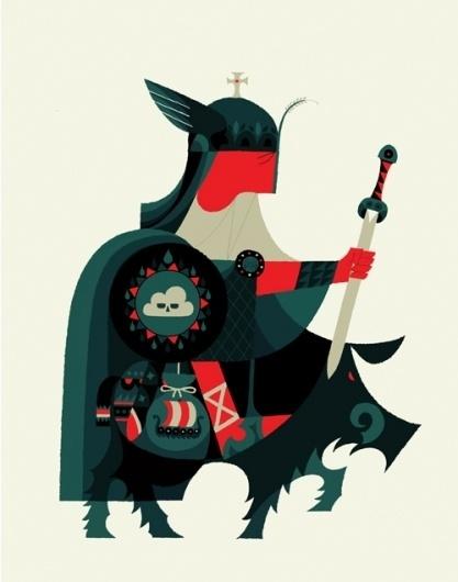 1318791853.jpg (500×635) #illustration #knight #geometric