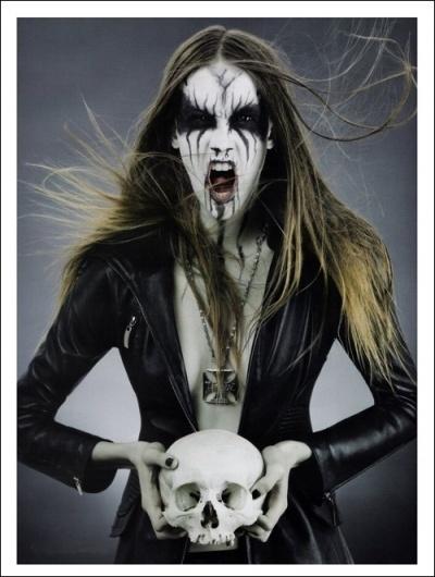 Haute Macabre : Black Metal Barbies | #woman #antonella #black #arismendi #metal #baby
