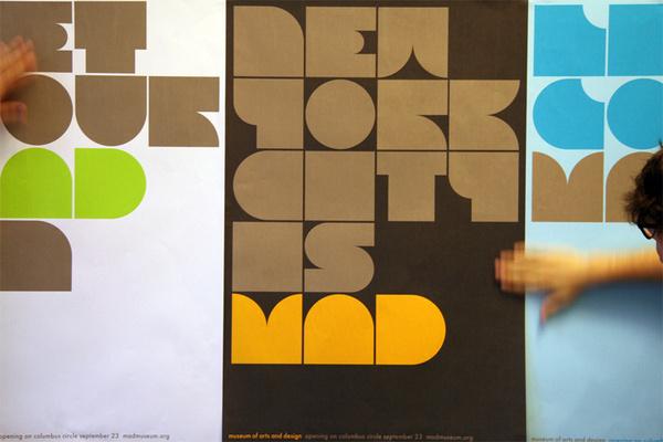 Museum of Arts and Design identity by Pentagram #typography #blocks #york #pentagram #new