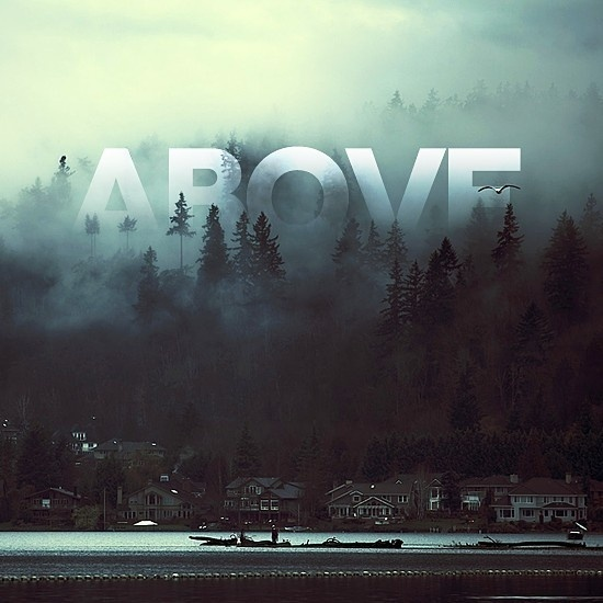 Above #water #boats #houses #trees #typography