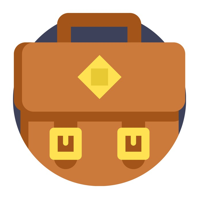 See more icon inspiration related to portfolio, bag, briefcase, networking, business and suitcase on Flaticon.