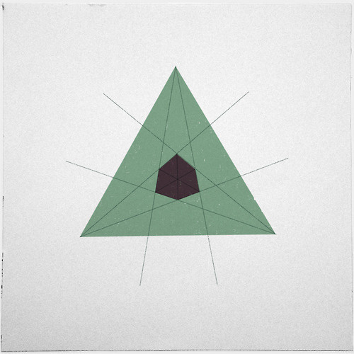 #204 There lies a cube at the heart of every triangle – A new minimal geometric composition each day