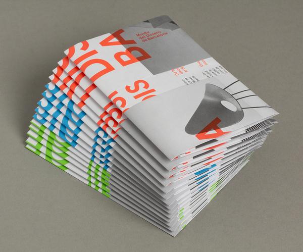 DHUB Leaflet (Print, Identity) by Lo Siento Studio, Barcelona #fluorescent #print #folded #poster