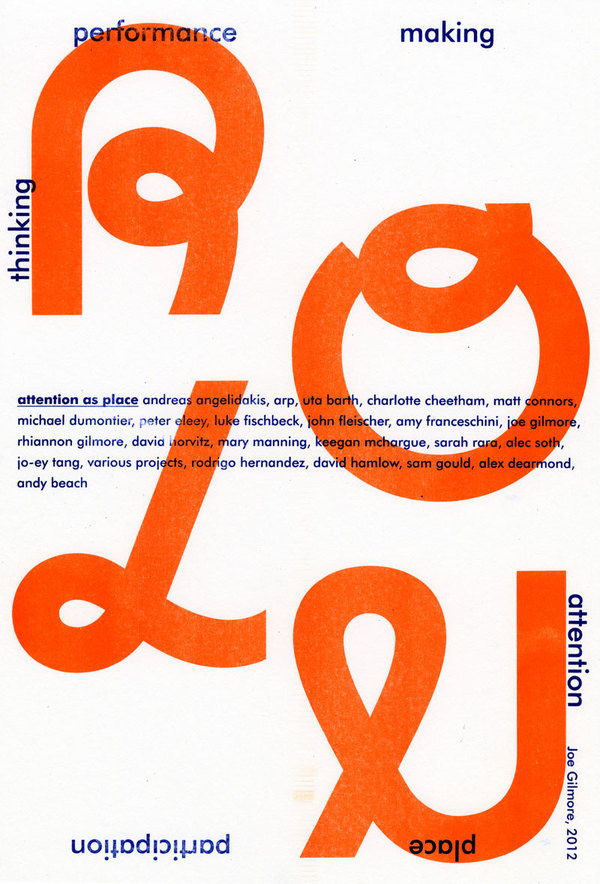 ROLU Residency: Joe Gilmore collaboration — Design — Walker Art Center #type #print