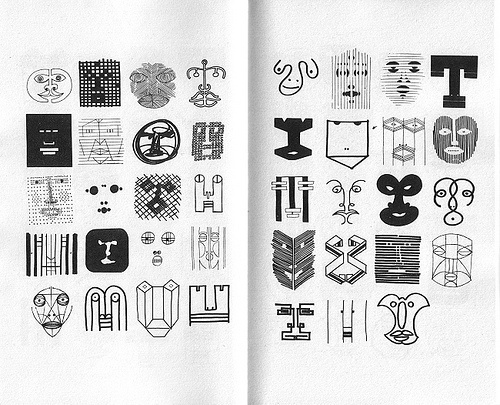 Oliver Tomas | Text Proportion Utility » Blog Archive » Bruno Munari's Design as art (1966) #munari #design #faces #as #illustration #art