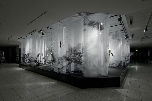 artless Inc. | news and portfolio : * installation & interior : ISETAN | the stage (new year 2011) #installation #kawakami #transparent #art #shun