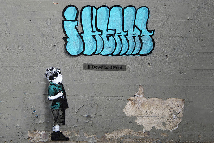 Street Art Shows Social Media Culture Through Graffiti #instagram #graffiti #facebook #hashtag #art #street #media #social