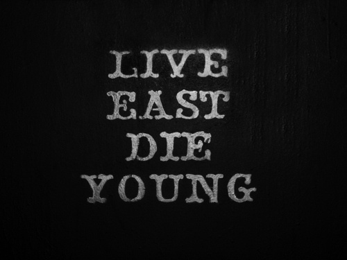 relic. #live #die #young #white #black #and #type #fast #typography