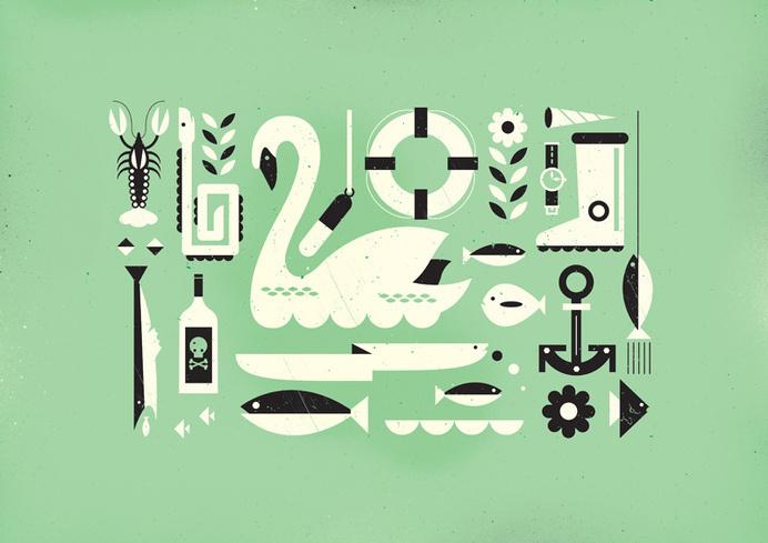 Adam Quest - Illustration #maritime #illustration #fish
