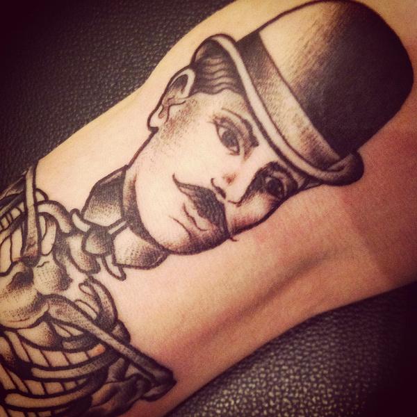 Sara b Bolen Tattoo #illustration #gentlemen #tattoo #moustache