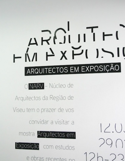 NARV arquitectos em exposição by www.artspazios.pt #business #packaging #card #print #design #book #art #poster #logo #layout #artspazios #typography