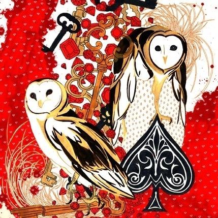 Hannah Stouffer Illustration #hannah #owls #stouffer #bling #awesome