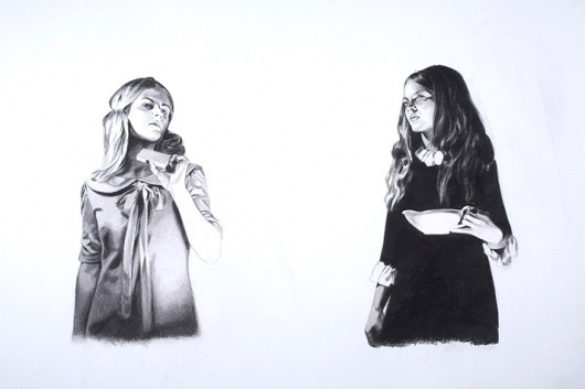 Whistling Past The Graveyard Part Two | MERCEDES HELNWEIN #white #girl #black #on #paper #art #and #pencil