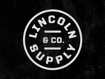 FFFFOUND! | Dribbble - Lincoln Supply & Company by Jeremy Beasley #type #design #logo