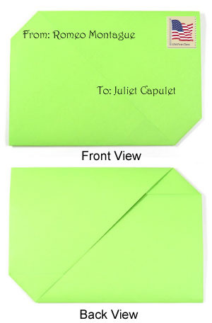 How to make a traditional origami envelope (http://www.origami-make.org/howto-origami-envelope.php)