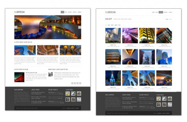 Website slide template Free Psd. See more inspiration related to Design, Template, Web, Website, Web design, Website template, Slide and Horizontal on Freepik.