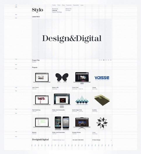 Stylo Design - Design & Digital Consultancy - Stylo #grid #guidelines