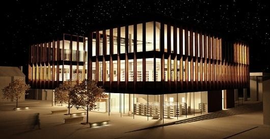 Town Library, Altrincham - Thomas Waddington #architecture #library