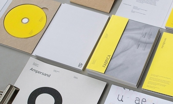Project Fabrica Typeface on the Behance Network #font #specimen #yellow #clean #minimal #typeface