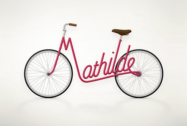 Write a Bike on the Behance Network #type #bicycle #typography