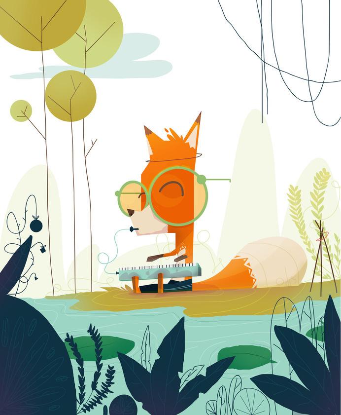 Ritual para la paz https://www.behance.net/orlandokorzo #glasses #fox #design #illustration #art #cute #forest #animal #jungle