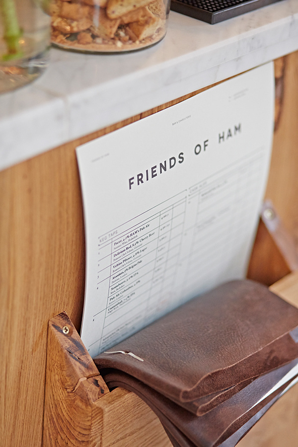 Friends of Ham on Behance #stamp #menu #layout #typography