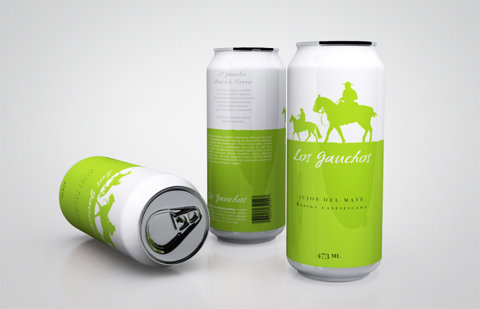 Los Gauchos - TheDieline.com - Package Design Blog #packaging #cans