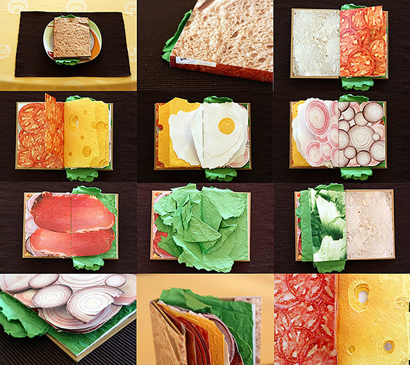 The Sandwich Book | Picame Daily dose of creativity #sandwich #design #graphic #book