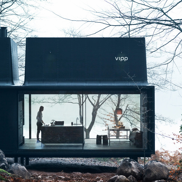 vipp's plug and play shelter serves as a comfortable retreat #vipp