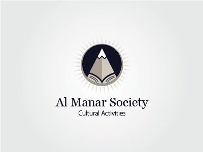 Dribbble - Al Manar Society by husam abu rayyan #logo #brand #cultural #black