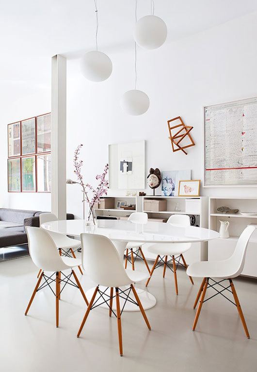 white dining room #interior #design #decor #deco #decoration
