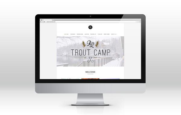 Reindeer Lake Trout Camp #branding #design #website #identity #hunting #logo #fishing #web