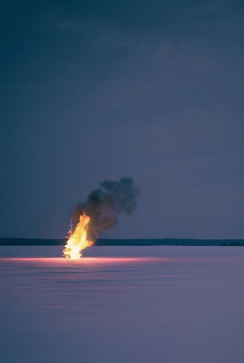 Sleepless Dreams #burning #snow #night #photography #fire #glow #ice