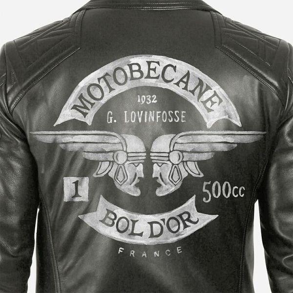 Motobecane by BMD Design #design #illustration #typography #motorcycle #jacket #leather jacket #motorcycle jacket