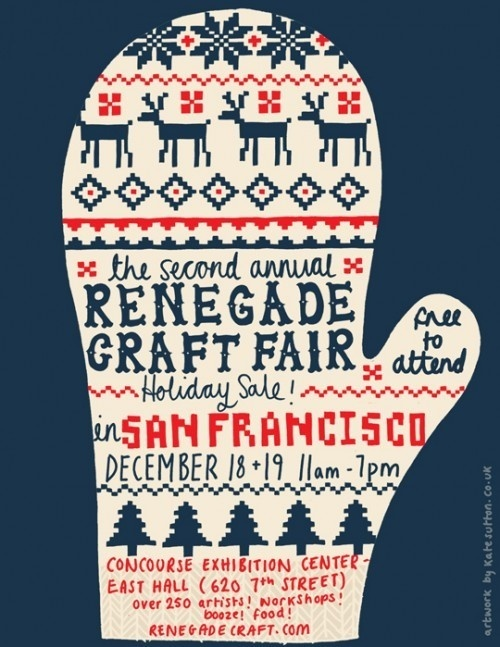 renegade holiday poster 2 #craft #fair #poster #mitten #stitch