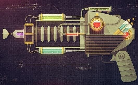 Raygun52 - Justin Mezzell #illustration