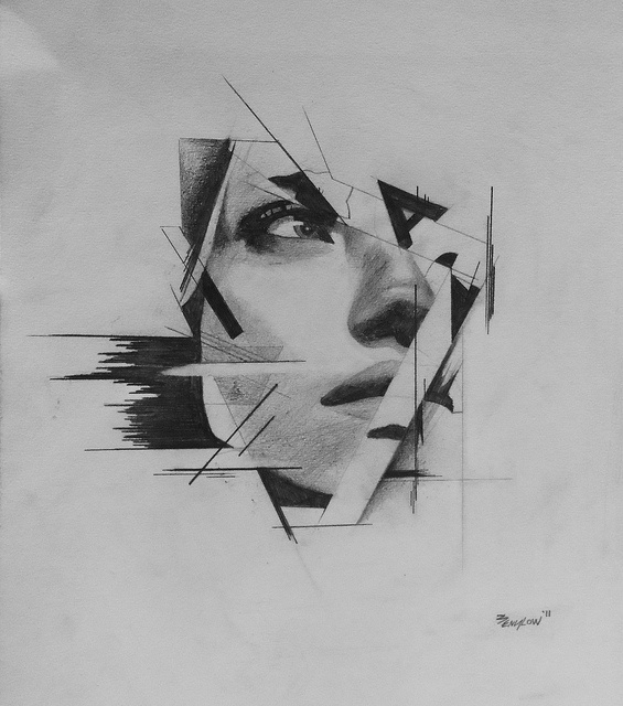 Buamai - Imogen (abstract) Sketch   #line #drawing #blackwhite
