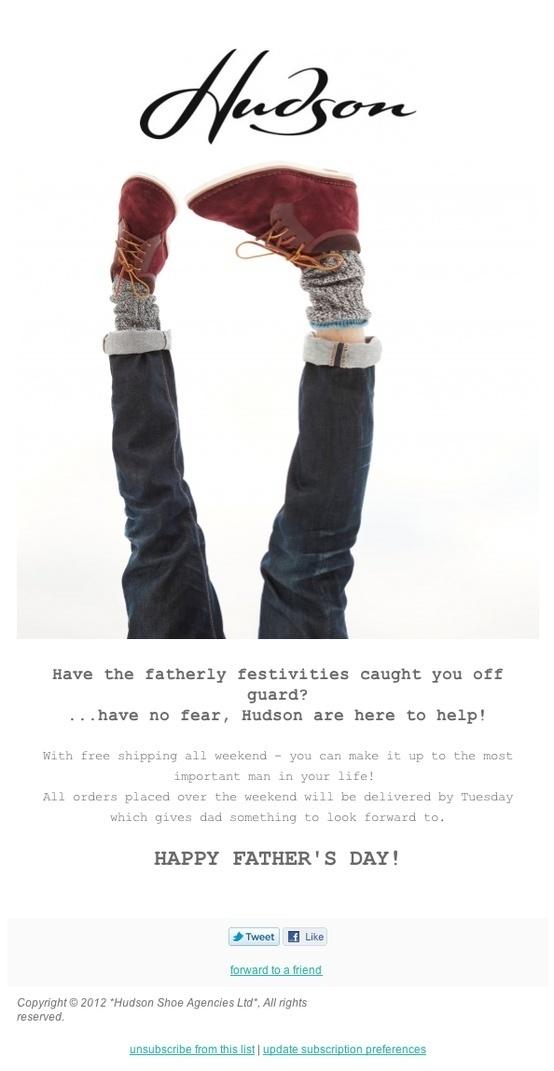 Hudson Shoes #subscribe #shoes #design #emailer #hudson #fashion #newsletter