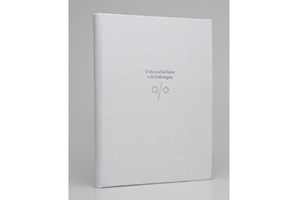 O Manual do Gesto e da Embalagem on Behance #letterpress #editorial #white