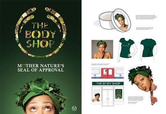 Body Shop - Advertising - Creattica #shop #fruit #body #nature #poster #dad #mother