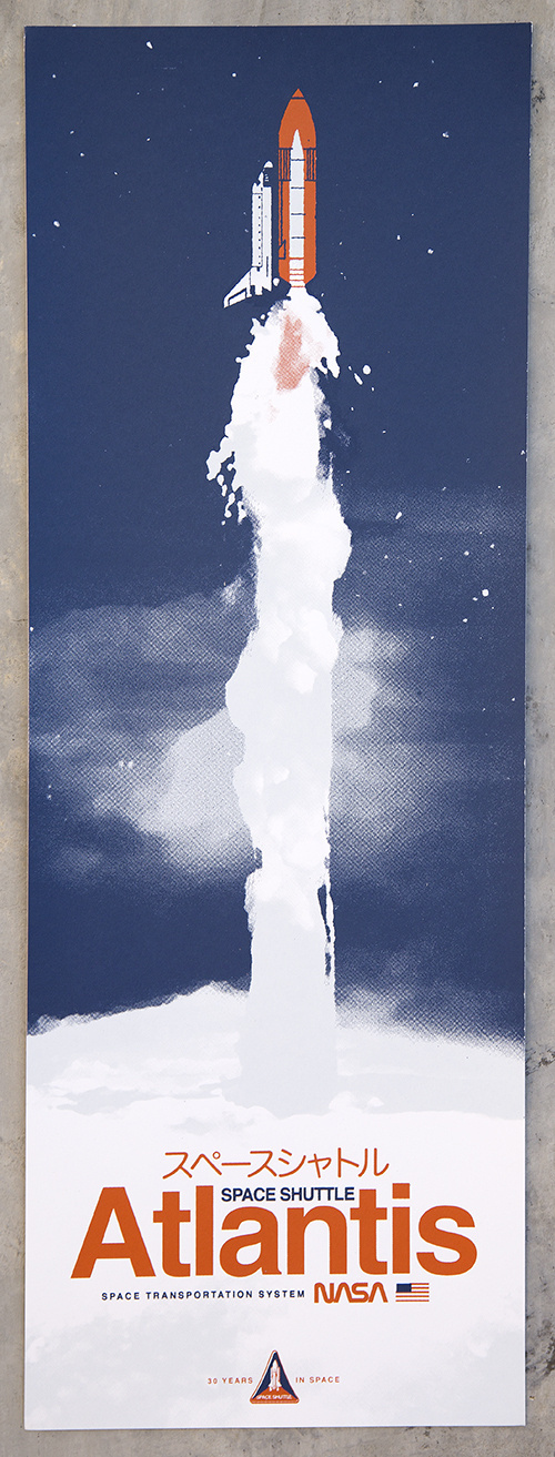Beautiful NASA Space Shuttle Atlantis Poster by Kevin Dart #poster #nasa #space