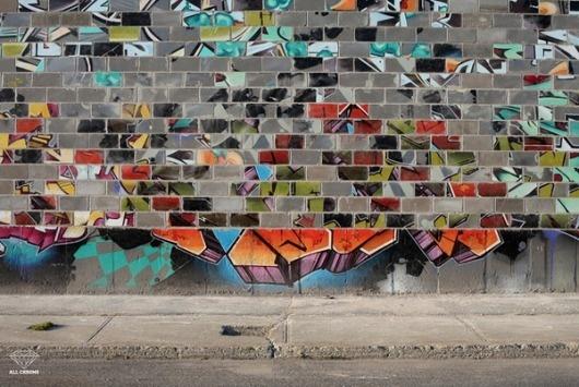 jux_kemr9.jpg 600×403 pixels #graffiti #kemr #wall #piece #bricks